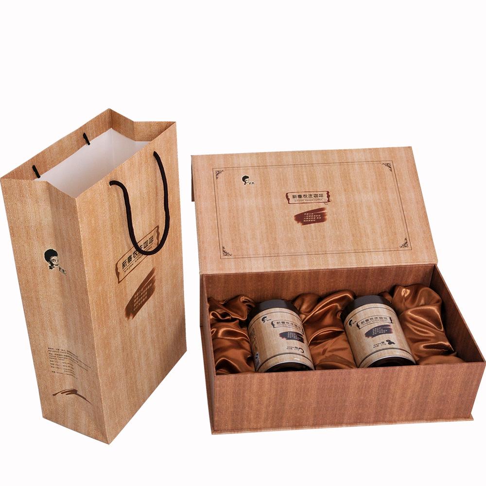 新寨 礼盒装送礼云南小粒咖啡铁毕卡500克罐装豆 精品咖啡礼品盒