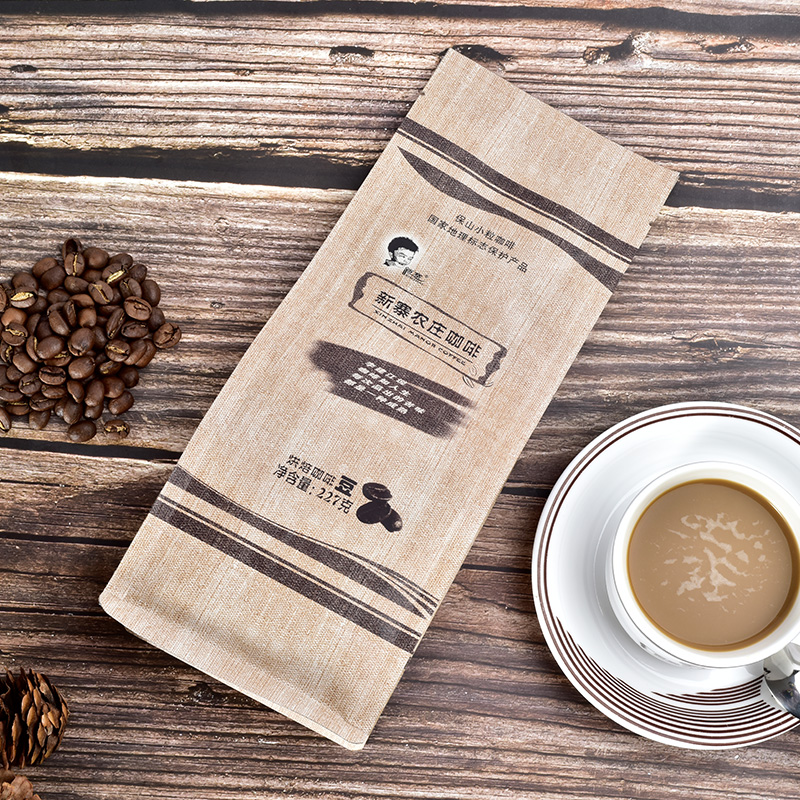 新寨铁皮卡中度烘焙蓝山风味云南小粒咖啡豆可代磨粉227g